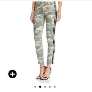 MOTHER Looker High Waist Camo Track Stripe Jeans